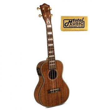 Custom Lanikai Hawaiin Concert Ukulele UkeSB USB Equipped, TMS Polishing Cloth, LK-CEU PC