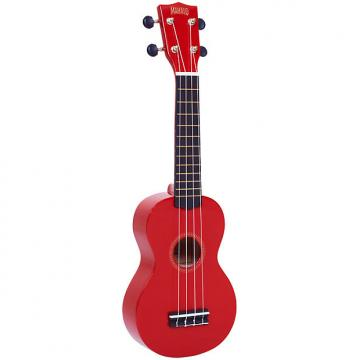 Custom Mahalo Rainbow Series Soprano Ukulele - Red