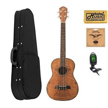 Custom Oscar Schmidt OU57 Baritone Uke, Spalted Mango, Grover Tuners,w/Soft Case,Tuner,Strings & PC, OU57 SCASE