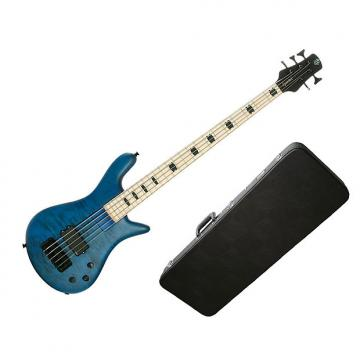 Custom Spector ReBop5 MM Trans Blue Stain Matte - Maple Fingerboard w/Hard-Shell Case