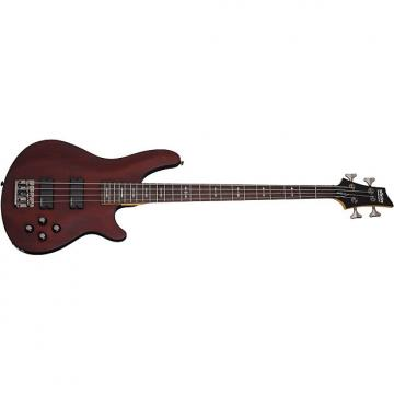 Custom Schecter Omen-4 Walnut Satin WSN Electric Bass B-Stock Omen4 Omen 4   MINT!