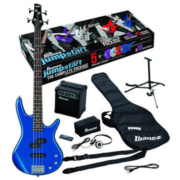 Custom Ibanez IJXB150BSLB Jumpstart Electric Bass Package with Starlight Blue Electric Bass