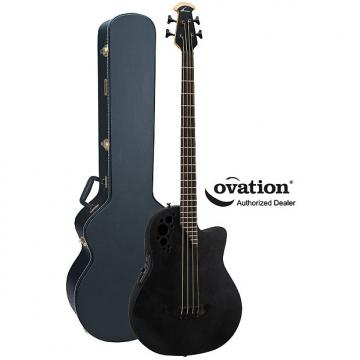 Custom Ovation Elite TX B778TX-5 Roundback Acoustic-Electric 4-String Bass with Case