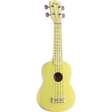 Custom Stagg Graphic Yellow Soprano Ukulele US-LEMON