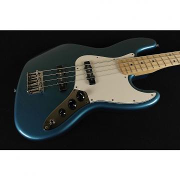 Custom Fender Standard Jazz Bass Maple Fingerboard Lake Placid Blue 3-Ply Parchment Pickguard 0146202502 (032)