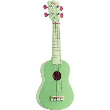 Custom Stagg Graphic Green Soprano Ukulele US-GRASS