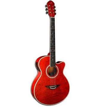 Custom Morgan Monroe Quiled Ash Acoustic / Electric Red