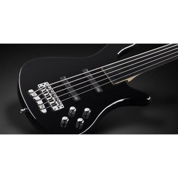 Custom Warwick RockBass Streamer LX 5 Black Solid High Polish Fretless Passive Pickups Active Electronics