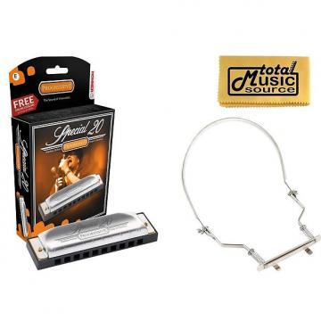 Custom HOHNER Special 20 Harmonica, Key of E, Made in Germany, Case & Harmonica Holder, 560BL-E PACK