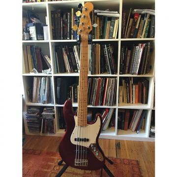 Custom Fender American Standard Jazz Bass 5 2007 Red w/ Audere JZ3 preamp