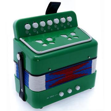 Custom SKY Accordion Green Color 7 Button 2 Bass Kid Music Instrument High Quality Easy to Play