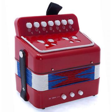 Custom SKY Accordion Red Color 7 Button 2 Bass Kid Music Instrument High Quality Easy to Play