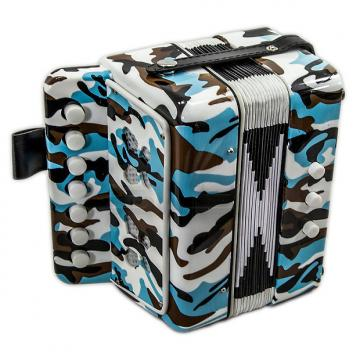 Custom SKY Accordion Camouflage Color 7 Button 2 Bass Kid Music Instrument High Quality Easy to Play