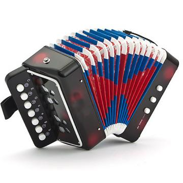 Custom SKY Accordion Black Color 7 Button 2 Bass Kid Music Instrument High Quality Easy to Play