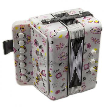 Custom SKY Accordion Butterfly Pattern 7 Button 2 Bass Kid Music Instrument High Quality Easy to Play