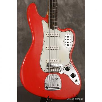 Custom RARE 1963 pre-CBS Fender BASS VI original custom color FIESTA RED!!!