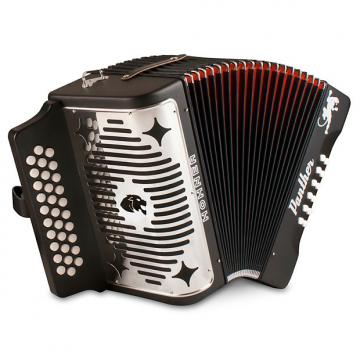 Custom Hohner Panther FBbEb (FA) Diatonic Accordion Free Case