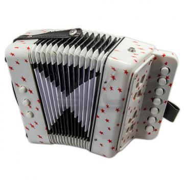 Custom SKY Accordion Star Pattern 7 Button 2 Bass Kid Music Instrument High Quality Easy to Play