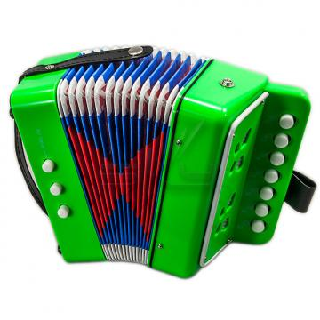 Custom SKY Accordion Kelly Green Color 7 Button 2 Bass Kid Music Instrument High Quality Easy to Play