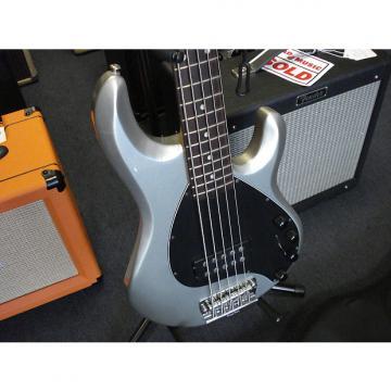 Custom Musicman Stingray 5  string bass with Gigbag silver