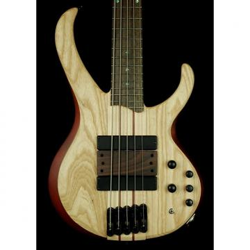 Custom New! Ibanez BTB33-NTF BTB 5-String Neck-Thru Electric Bass - Natural Flat
