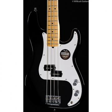 Custom Fender American Standard Precision Bass Black, Maple (078)