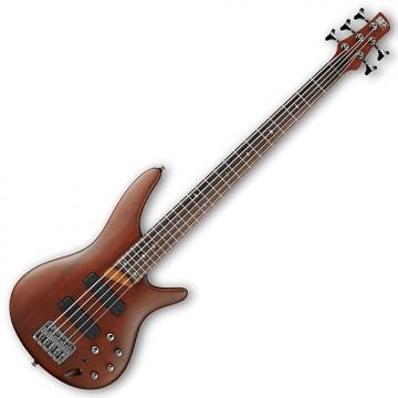 Custom Ibanez SR505 Left Handed 5-String Electric Bass - Brown Mahogany