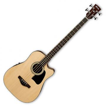 Custom Ibanez AWB50CE Artwood Acoustic-Electric Bass - Natural
