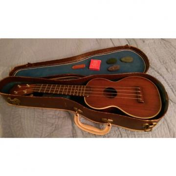 Custom Martin Style 2 Soprano Uke w/ original case and accessories Mid 50s Solid Mahogany