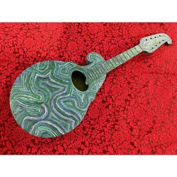 "Custom ""Appalachian Blues"" painted by Ken Milam Regal Reverse-Scroll Mandolin Early 1900s"