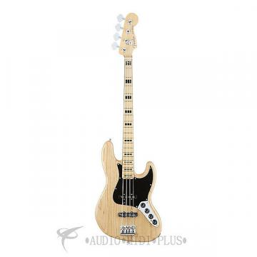 Custom Fender American Elite Jazz Maple Fingerboard Electric Bass Natural - 0197002721 - 885978649891