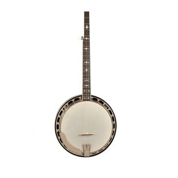 Custom Recording King RK-R36 Madison Series Gloss Brown Resonator Banjo with Mastertone-Style Tone Ring