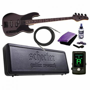 Custom Schecter Michael Anthony Bass Carbon Grey CBG Electric Bass NEW + TOURING BUNDLE