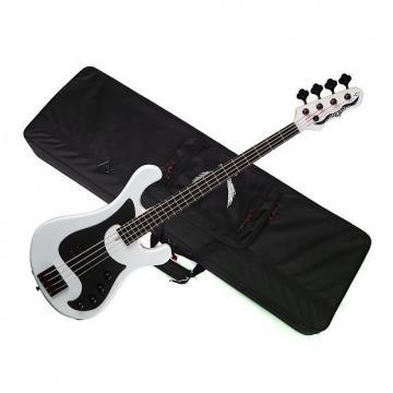 Custom DEAN Eric Bass Hillsboro 4-string BASS guitar new Classic White w/ LIGHT CASE