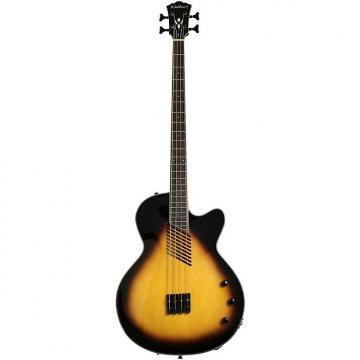 Custom Washburn Vintage Sunburst Acoustic/Electric Bass Guitar