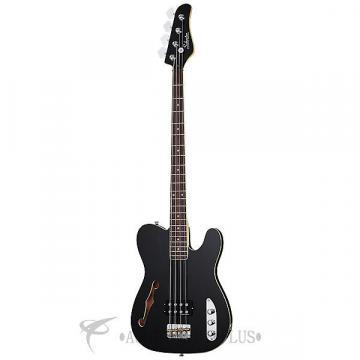 Custom Schecter Baron H Vintage Rosewood Fretboard Electric Bass Gloss Black - 2654 - 81544704241