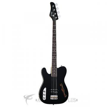 Custom Schecter Baron-H Vintage LH Rosewood Fretboard Electric Bass Gloss Black - 2655 - 81544704258