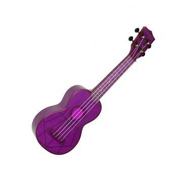 Custom Kala Makala Waterman - Grape Fluorscent Soprano Ukulele (Purple)