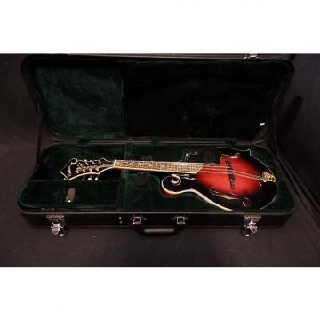 Custom Washburn M3SWETWRK Mandolin in Trans Wine Red & Case #0088