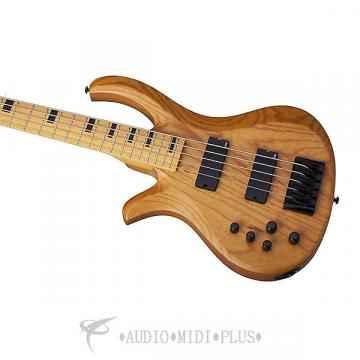 Custom Schecter Riot-5 Session LH Maple Fretboard Electric Bass Aged Natural Satin - 2857 - 81544708072