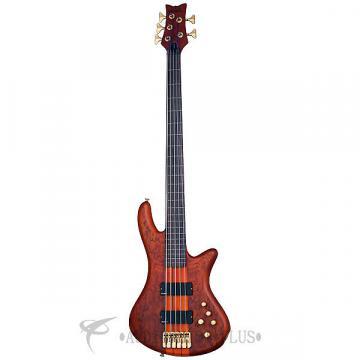 Custom Schecter Stiletto Studio-5 FL Left Handed Rosewood FB Bass Guitar Honey Satin - 2775 - 839212004342