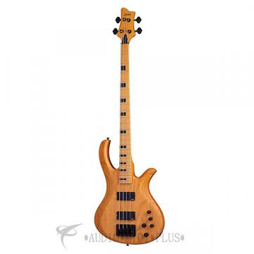 Custom Schecter Riot-4 Session Maple Fretboard Electric Bass Aged Natural Satin - 2852 - 81544708027