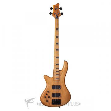 Custom Schecter Stiletto-4 Session LH Maple Fretboard Electric Bass Aged Natural Satin - 2854 - 81544708041