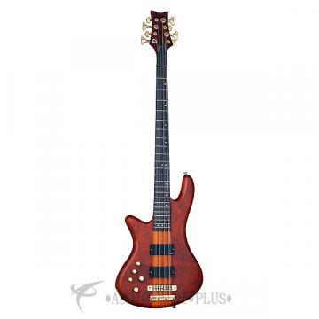 Custom Schecter Stiletto Studio-8 LH Rosewood Fretboard Electric Bass Honey Satin - 2741 - 839212004335