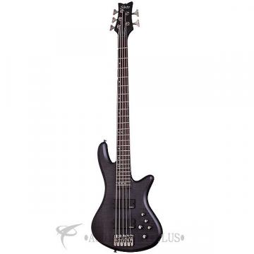 Custom Schecter Stiletto Studio-5 Rosewood FB Electric Bass See-Thru Black Satin - 2721 - 839212008241