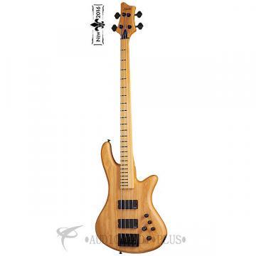 Custom Schecter Stiletto Session-4 FL Maple Fretboard Electric Bass Guitar Aged Natural Satin - 2845