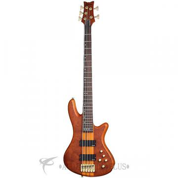 Custom Schecter Stiletto Studio-5 Rosewood Fretboard Electric Bass Honey Satin - 2720 - 839212002690