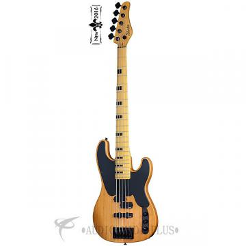 Custom Schecter Model-T Session-5 Maple FB Electric Bass Guitar Aged Natural Satin - 2847 - 815447020838