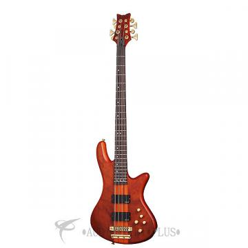 Custom Schecter Stiletto Studio-8 Rosewood Fretboard Electric Bass Honey Satin - 2740 - 839212002713