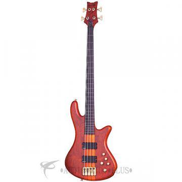 Custom Schecter Stiletto Studio-4 FL LH Rosewood Fretboard Electric Bass Honey Satin - 2765 - 839212003314